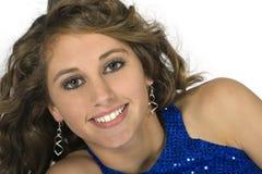 teen flott head model skulder för brunett Royaltyfri Fotografi