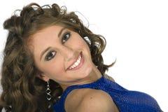 teen flott head model skulder för brunett Royaltyfria Bilder