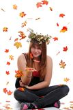 Teen flower girl with a crown Stock Image