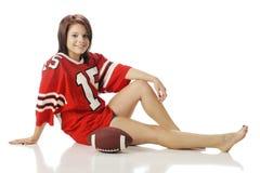 Teen Football Fan Stock Image