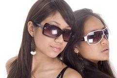 Teen Freinds. Friends together looking cool in sunglasses stock photography