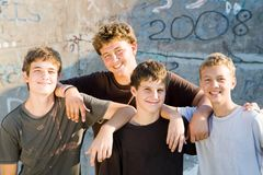 Teen friends. Group of young teen friends together Royalty Free Stock Photography