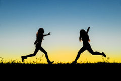 Teen friends having fun. Concept of female friendship. Royalty Free Stock Images