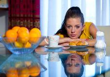 teen frukostflicka Arkivbilder