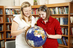 Teen Fun In Library Royalty Free Stock Photo