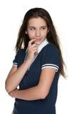teen fundersamt för flicka Royaltyfria Foton