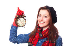 Teen gift with alarm-clock. Royalty Free Stock Image