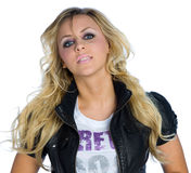 Teen girl. With blond hair Royalty Free Stock Photos
