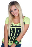 Teen girl. With blond hair Royalty Free Stock Photo