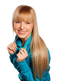 Teen girl. With blond hair Royalty Free Stock Images