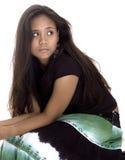 Teen Girl. Teenager in black Stock Image