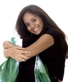 Teen Girl. Teenager in black Stock Photos