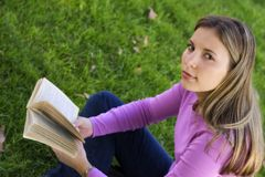 Teen Girl. Reading Stock Photos
