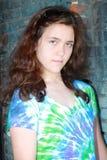 Teen girl attitude depressed royalty free stock photo