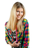 Teen girl. Attracive teen girl in fashion clothes Royalty Free Stock Images