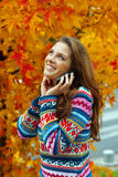 Teen girl in autumn Royalty Free Stock Photos