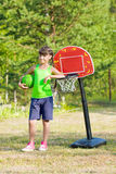 Teen girl with basketball Stock Photos