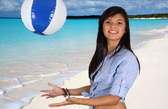 Teen Girl At Beach Stock Image