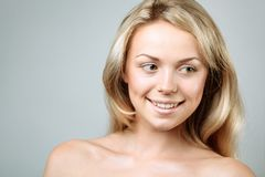 Teen girl beauty face happy smiling royalty free stock image