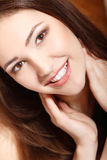 Teen girl beauty face happy smiling Royalty Free Stock Photos