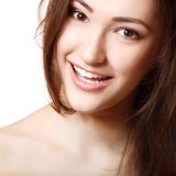 Teen girl beauty face happy smiling Royalty Free Stock Images
