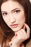 Teen girl beauty face happy smiling and looking at camera Royalty Free Stock Photos
