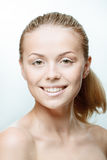 Teen girl beauty face happy smiling Stock Photo