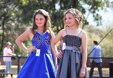 Teen Girl Beauty Pageant at Festival South Africa. THABAZIMBI, SOUTH AFRICA - JUNE 28: Two Junior Teen Girl Beauty Pageant at Wildsfees (Game Festival) on June Royalty Free Stock Images