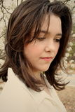 Teen girl beauty sad stock images