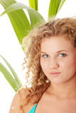 Teen girl in bikini - close up portrait Royalty Free Stock Photos