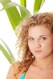 Teen girl in bikini - close up portrait Royalty Free Stock Photos