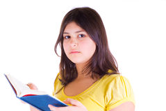 Teen girl with a book Royalty Free Stock Images