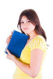 Teen girl with a book Royalty Free Stock Image