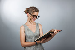 Teen girl with book Royalty Free Stock Image