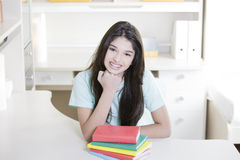 Teen girl with books Royalty Free Stock Photography