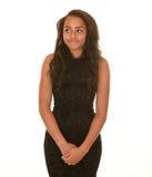 Teen girl in brown dress Stock Images