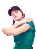 Teen girl in cap posing Royalty Free Stock Image