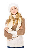 Teen girl in a cap Royalty Free Stock Photo