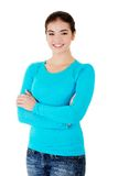 Teen girl. In casual clothes Stock Photography