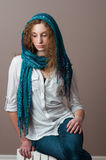 Teen girl in casual clothing wearing a headscarf Royalty Free Stock Photo