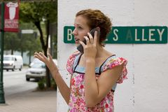 Teen Girl on Cell Three. Picture of a teen on a cell phone Stock Image
