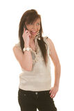 Teen girl on cellphone Stock Photography