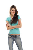 Teen girl cheerful stock photos