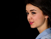 Teen girl close up Stock Images