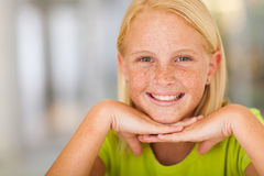 Teen girl closeup Royalty Free Stock Images