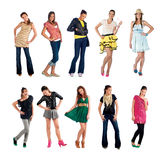 Teen girl collection Royalty Free Stock Images