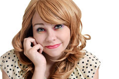 Teen girl with colorful eye shadow Royalty Free Stock Photo