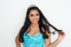 Beauty Pageant Contestant. Teen girl competing in a beauty pageant Stock Photos