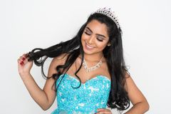 Beauty Pageant Contestant. Teen girl competing in a beauty pageant Stock Image