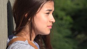 Teen Girl Confused And Unhappy stock footage